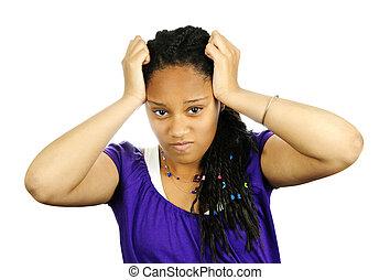 Teenage girl frustrated