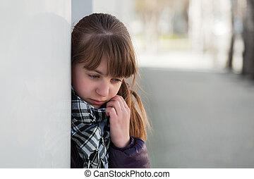Teenage girl in depression