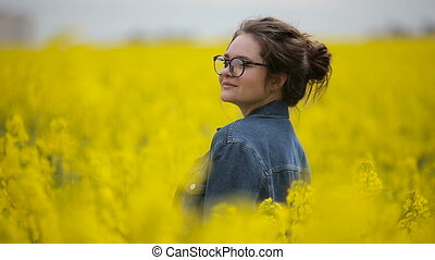 Teenage girl posing for a photograph