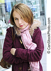 Teenage girl shivering