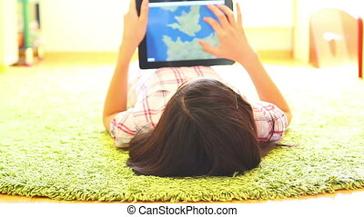 Teenage Girl Using Digital Tablet