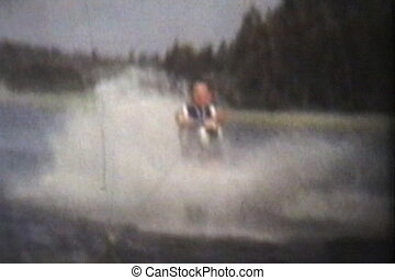 Teenage Girl Water Skiing (1978) - A young teenage girl ...