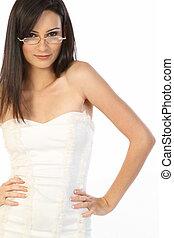 Teenage girl with beautiful glasses