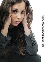 Teenage girl with head ache