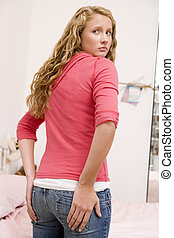 Teenage Girl Worried About The Size Of Her Behind