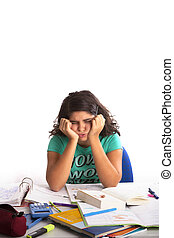 Teenage girls is desperated about her Homework