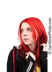 Teenage red hair girl - Beautiful red hair girl