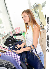 teenage shopper