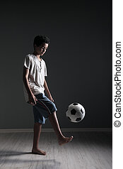 Teenage Soccer Player