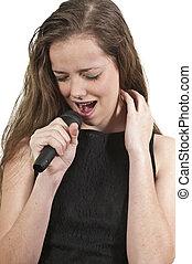 Teenage Woman Singer