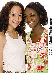 Teenage Women - Two attractive young teenage women