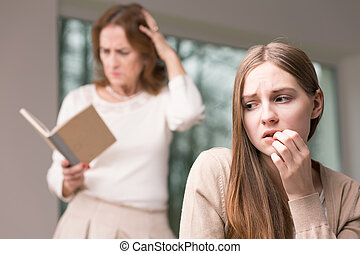 Teenage worried girl and her revealed secrets - Scared...