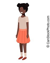 teenager black girl avatar character