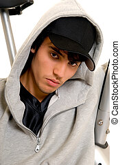 Teenager boy - Handsome teenager boy, casual dressed, hip...
