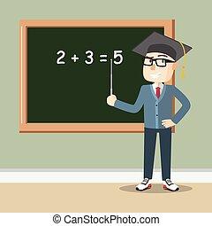 Teenager boy teaching