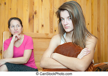 daughter and mother after quarrel