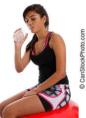 Teenager Drinking Water