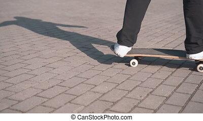 Teenager Falls as Skateboarding