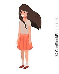 teenager girl avatar character