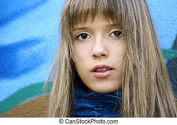 teenager., girl