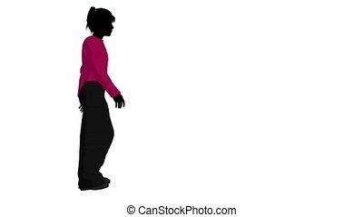 Teenager Girl - Teenager girl walking on a white background