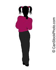 Teenager Illustration Silhouette