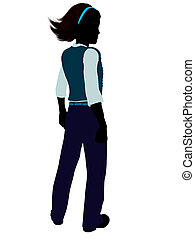 Teenager Illustration Silhouette - Teenager silhouette on a ...