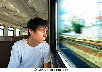 Teenager in the Train