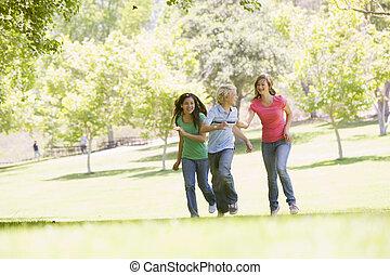 teenager, laufen park