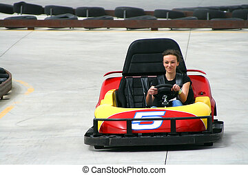 Teenager on the Go Cart