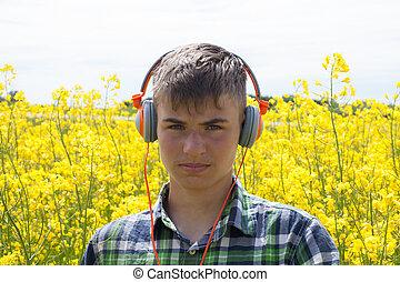 Teenager on the rape field