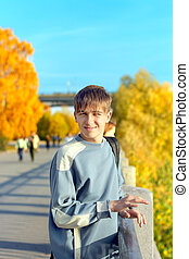 teenager on the street