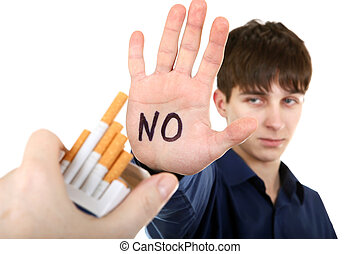 Teenager refuses from Cigarettes - Teenager refuses...