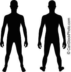 Teenager silhouette