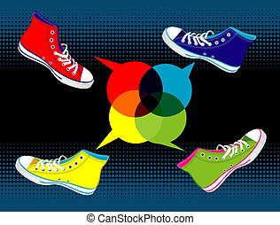 Teenager sneakers social media - Colourful sneakers with...