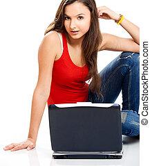 Teenager student