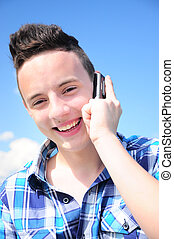 Teenager talkin on phone