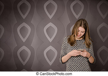 Teenager with a mobile phone