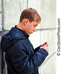 Teenager with a Phone