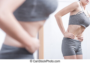 Teenager with eating disorder
