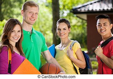 Teenagers after school