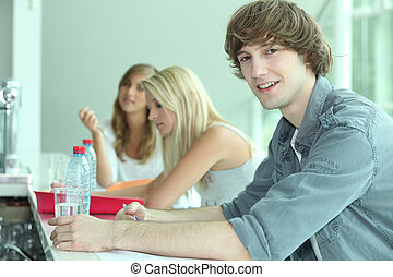 Teenagers in bar