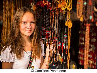teengirl, アジア人, 贈り物, shop.