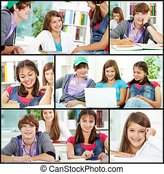 Teens at college