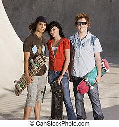 Teens at the skatepark