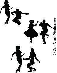 the twist - teens dancing the twist a popular dance from the...