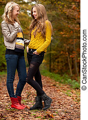 Teens in the autumn