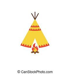 teepee, tienda, norteamericano, nativo