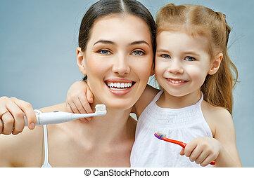 teeth, afborstelen