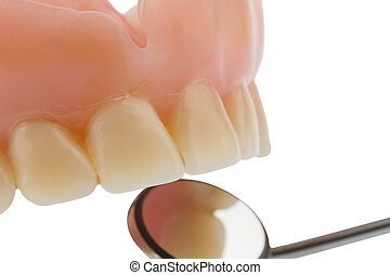 teeth and mouth mirrors - teeth and dental mirror, symbol...